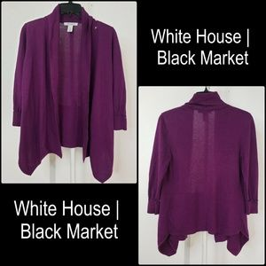White House Black Market Women Open Front Cardigan